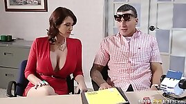 Gorgeous Cougar With Big Tits Enjoying A Hardcore Fuck In Her Office
