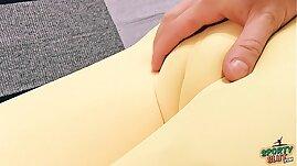 Huge Ass Latina Has Big Cameltoe And Big Tits. Tight Lycra Pants