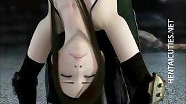 Horny 3D hentai chick finger fucked