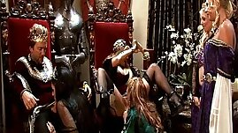 King and Queen Have A Medieval Orgy session With Four Hot Whores