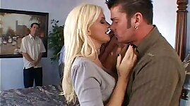 Blonde Slut cheating Wife Big Tits Swinger